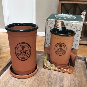 Terra Cotta Wine Cooler with Coaster